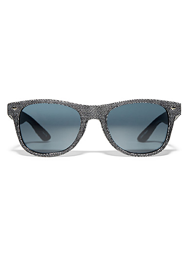 Denim square sunglasses