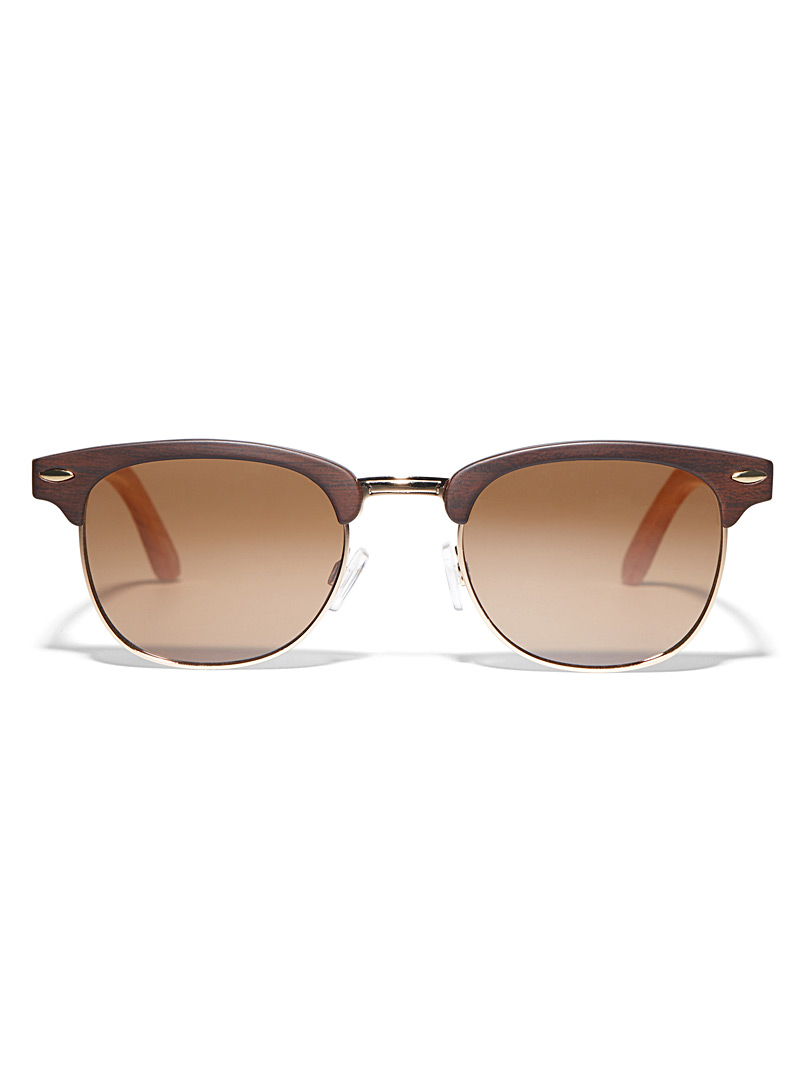 Le 31 Dark Brown Harrisson square sunglasses for men
