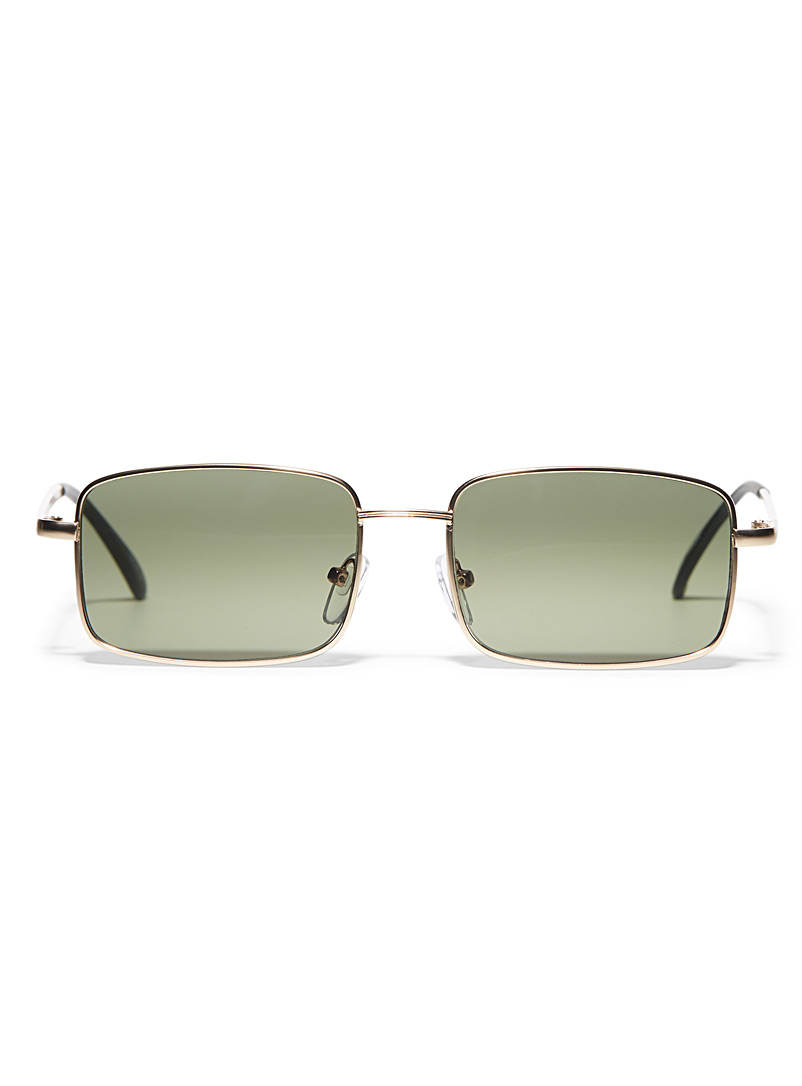 Le 31 Golden Yellow Tracer rectangular sunglasses for men