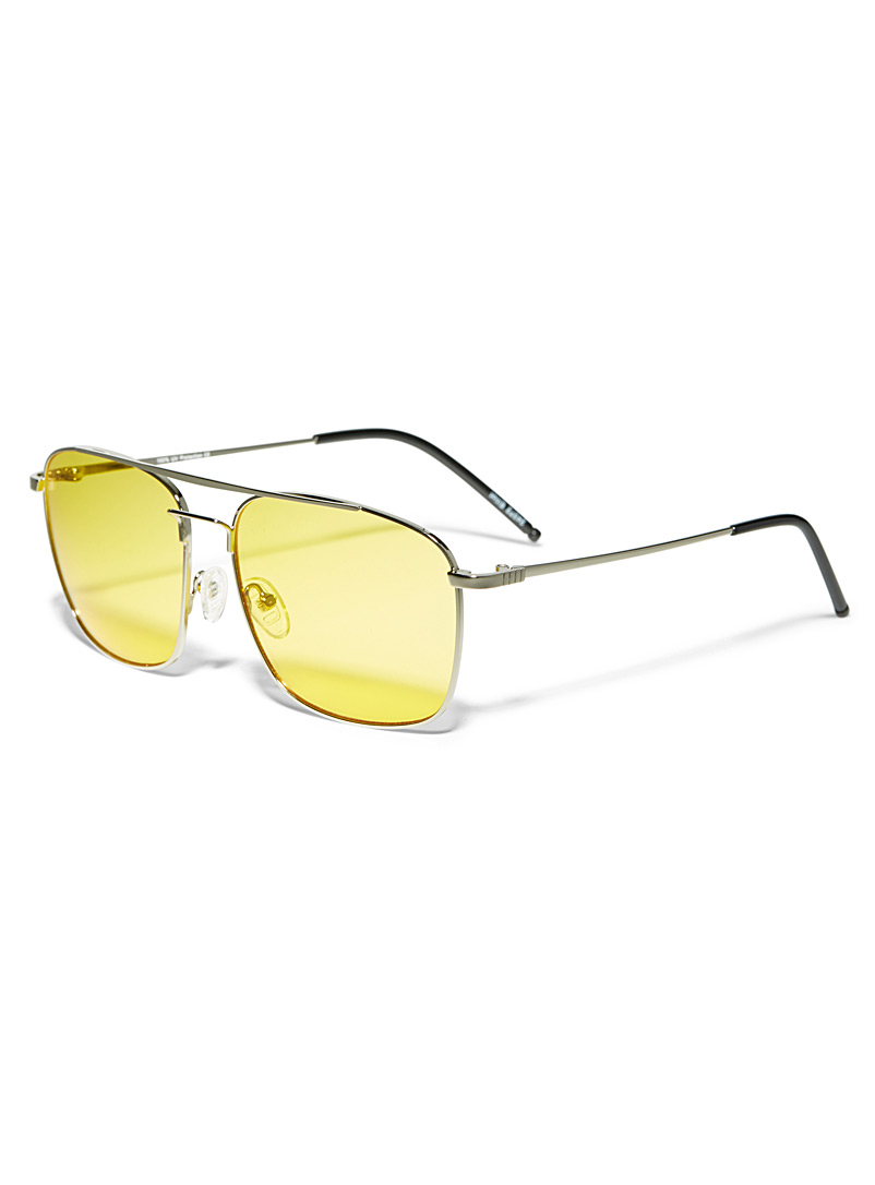 Le 31 Silver Prospect square sunglasses for men