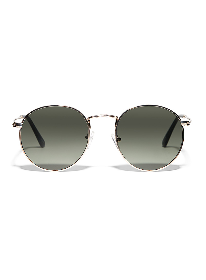 Le 31 Charcoal Earl round sunglasses for men