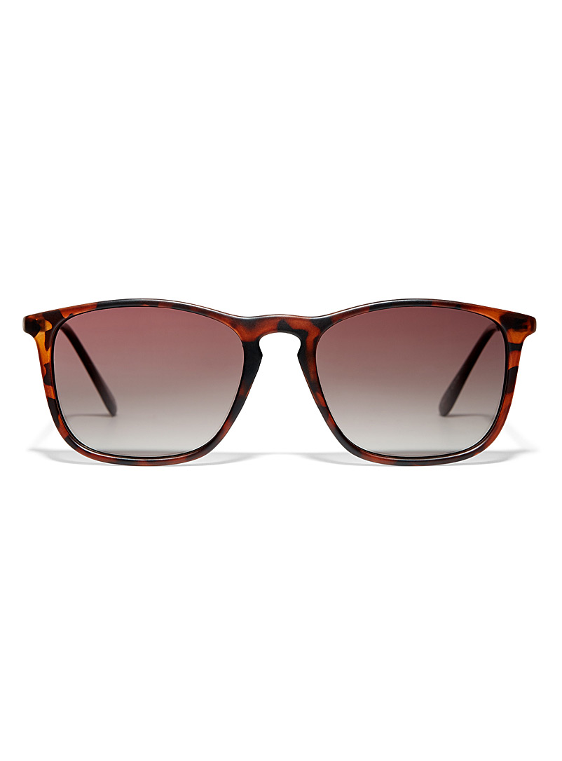 Le 31 Patterned Brown Chris square sunglasses for men