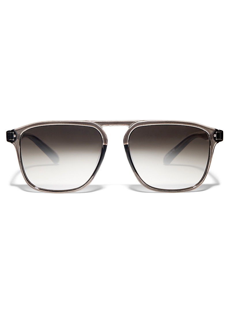 Le 31 Patterned Black Stanley sunglasses for men