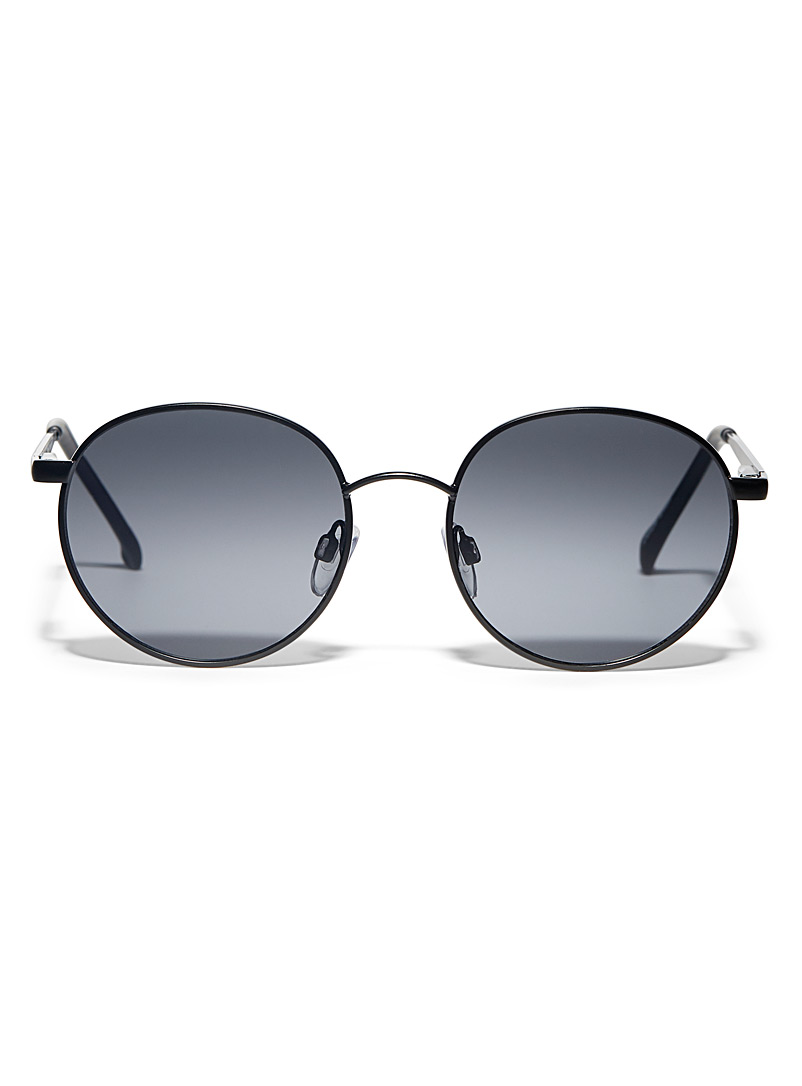 Le 31 Black Elton round sunglasses for men