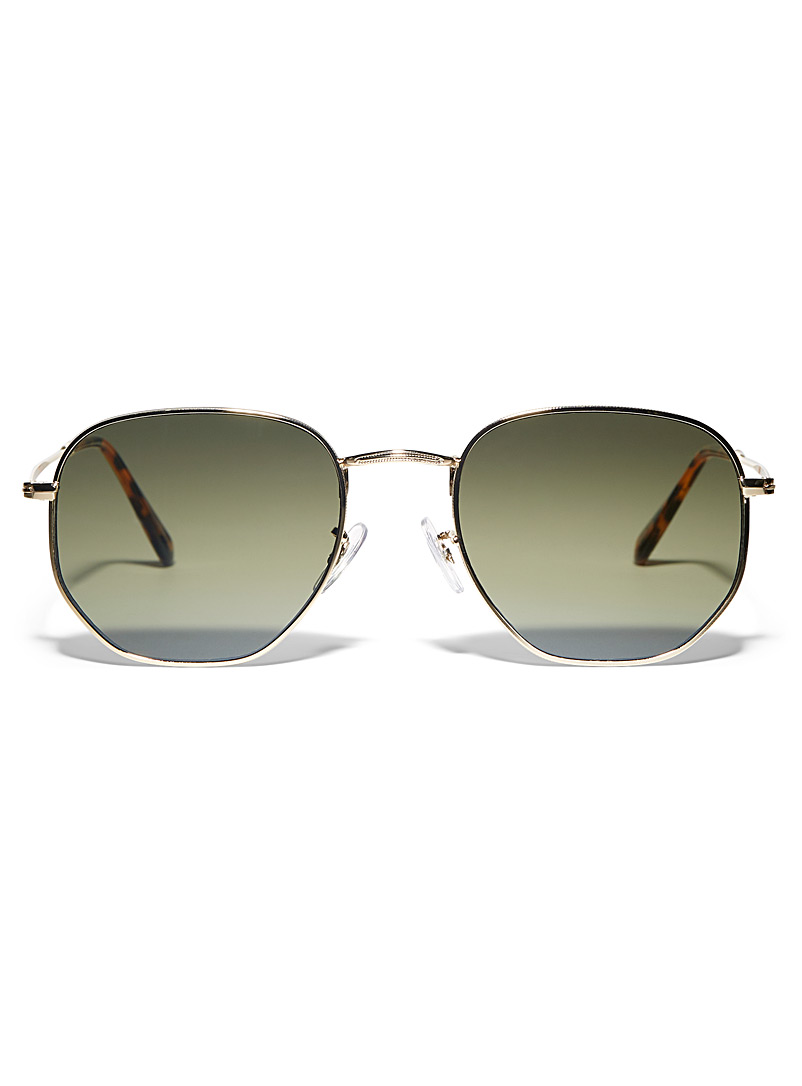 Le 31 Golden Yellow Sasha retro sunglasses for men