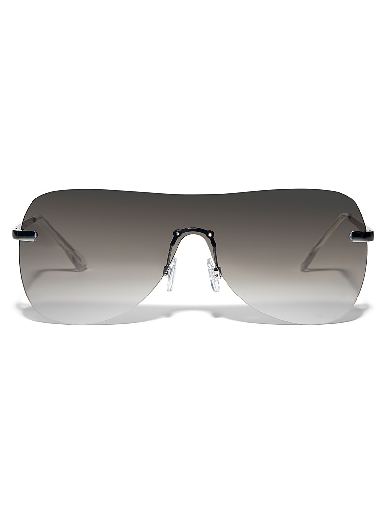 Le 31 Silver Andre visor sunglasses for men