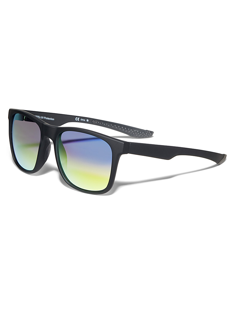 Le 31 Black Jordan mirror-lens sunglasses for men