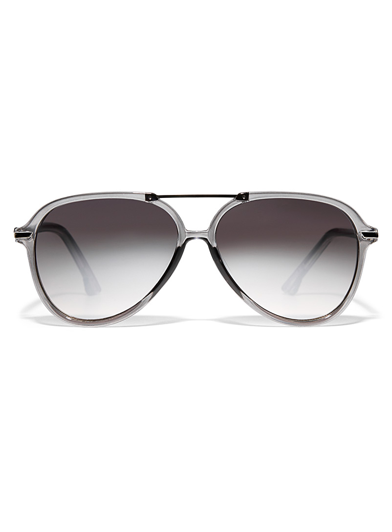 Le 31 Black Nick aviator sunglasses for men