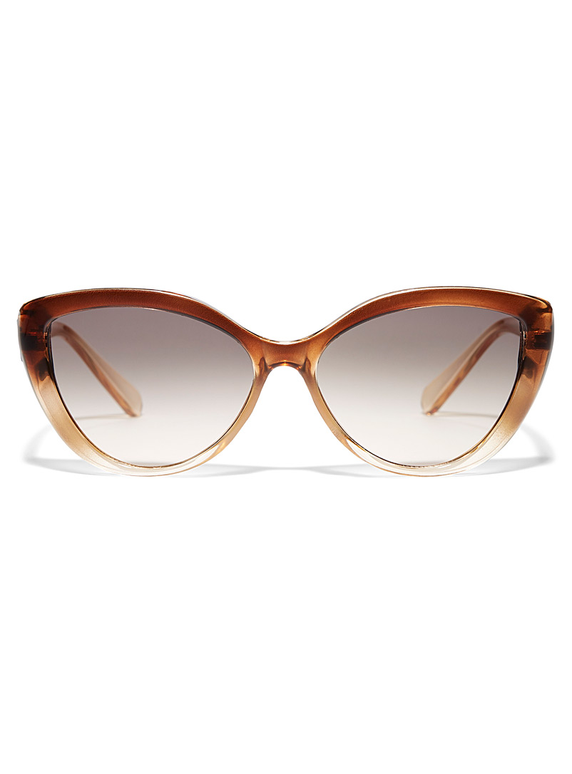 Simons Assorted brown  Middleton cat-eye sunglasses for women
