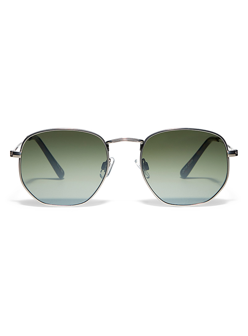 Le 31 Charcoal Cruze round sunglasses for men