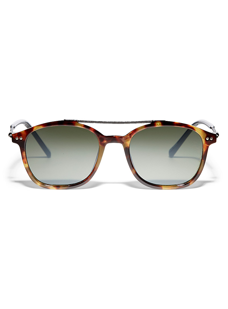 Le 31 Patterned Brown Gaspar square sunglasses for men