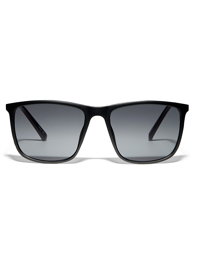 Le 31 Black Jonathan square sunglasses for men