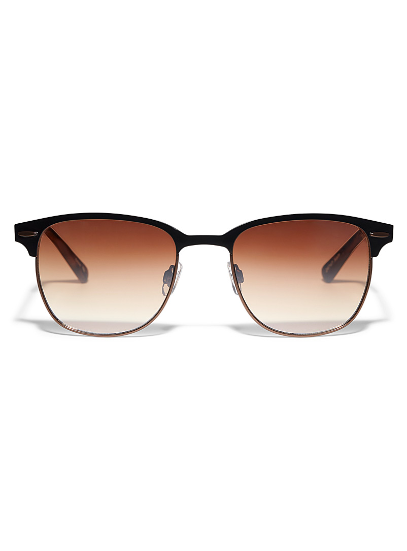 Le 31 Patterned Brown Nate square sunglasses for men