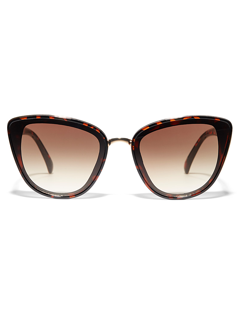 Simons Light Brown Ria cat-eye sunglasses for women