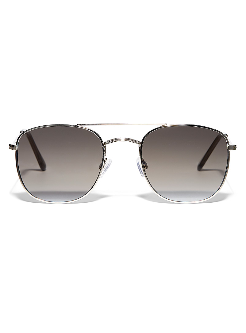 Le 31 Silver Paul aviator sunglasses for men