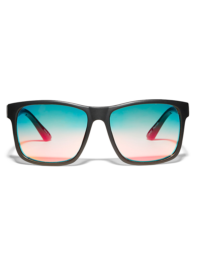 Le 31 Patterned Black Thomas square sunglasses for men