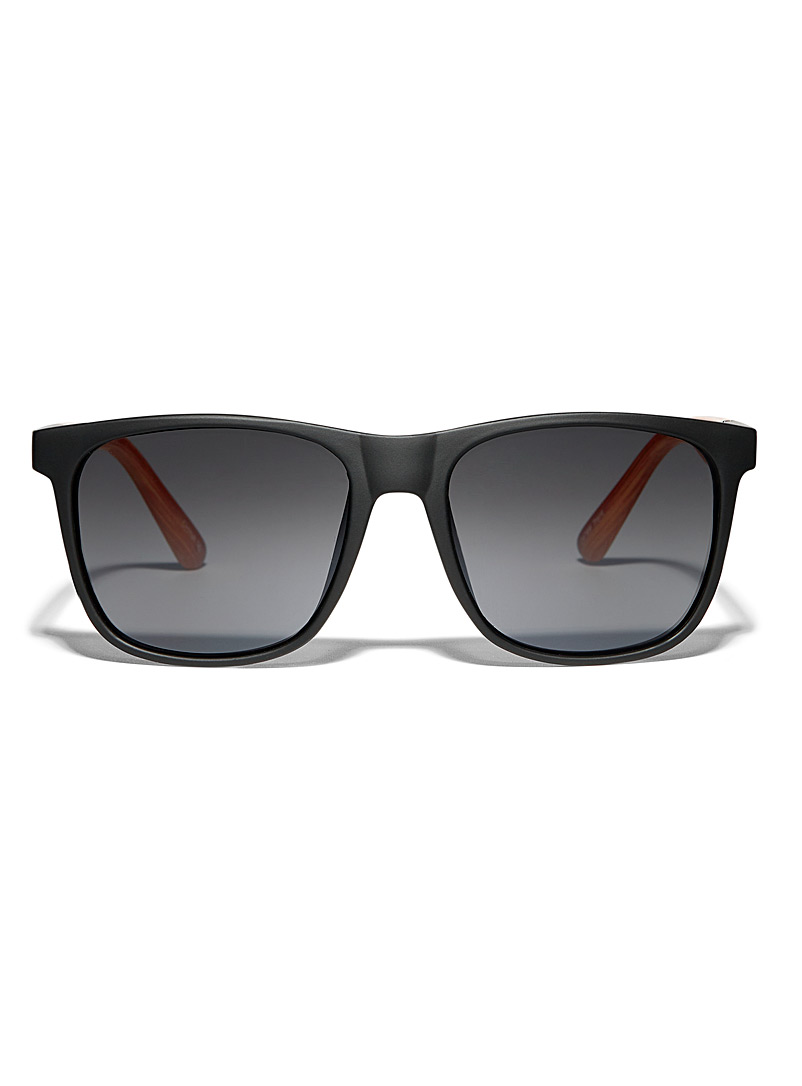 Le 31 Black Trent square sunglasses for men