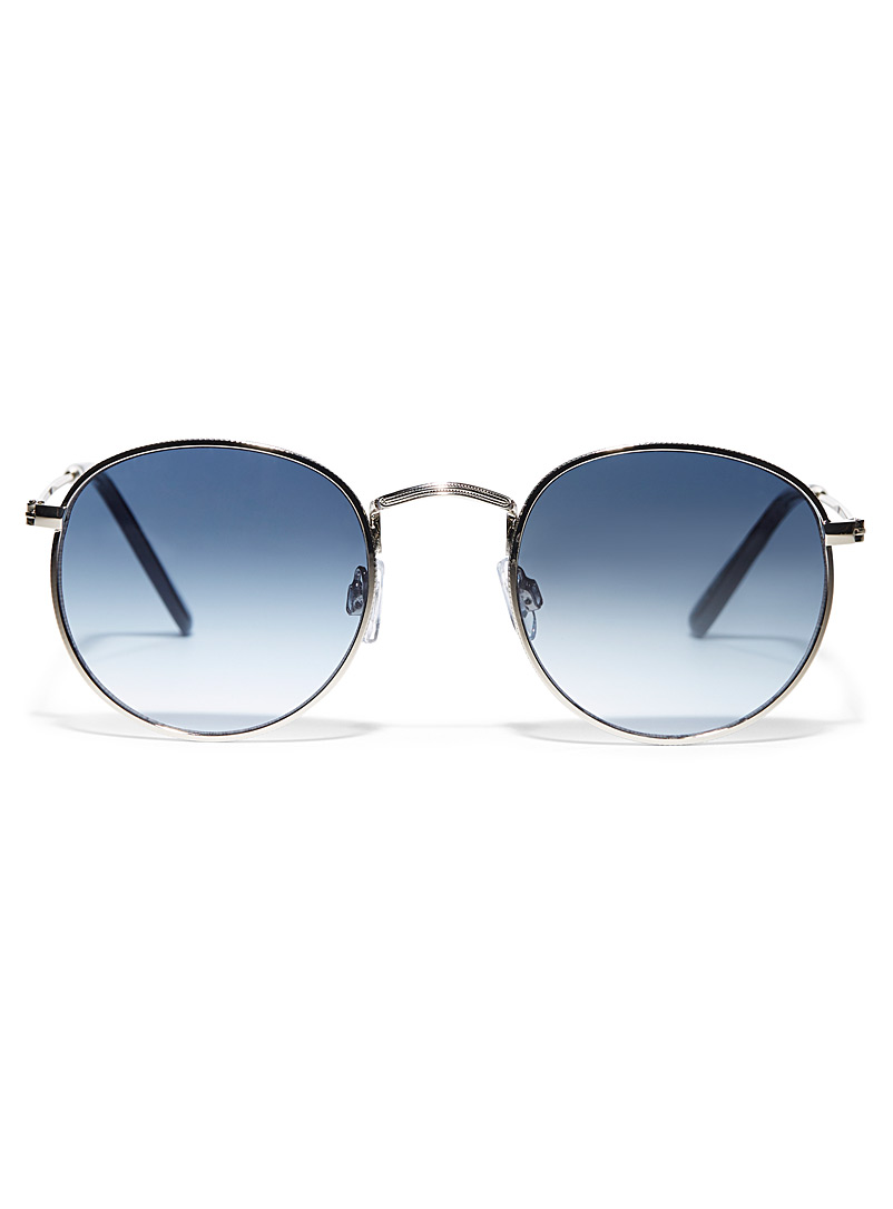 Simons Silver Bernice round sunglasses for women