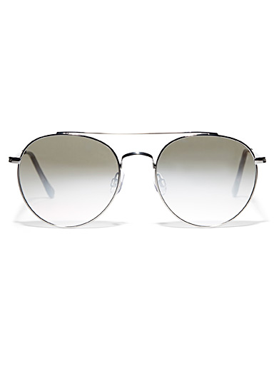 Katy round aviator sunglasses