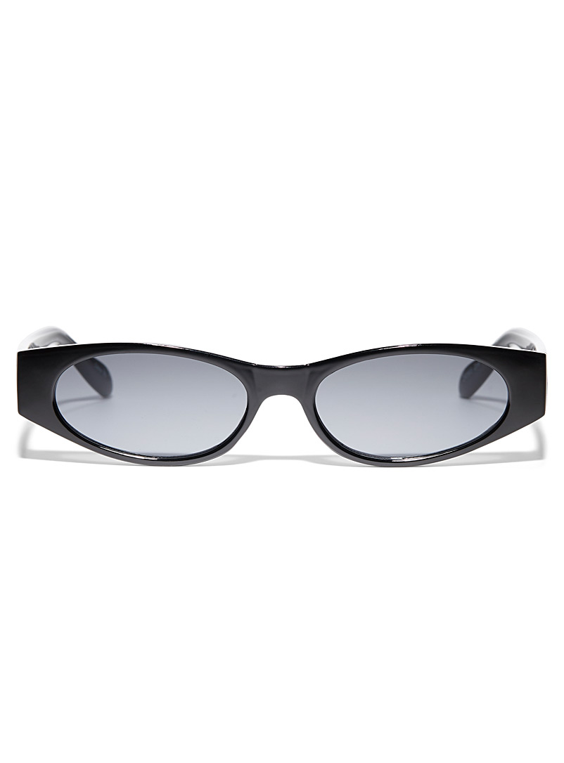 Simons Black Zoé oval sunglasses for women