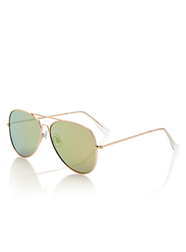 Sunny mirrored aviator sunglasses
