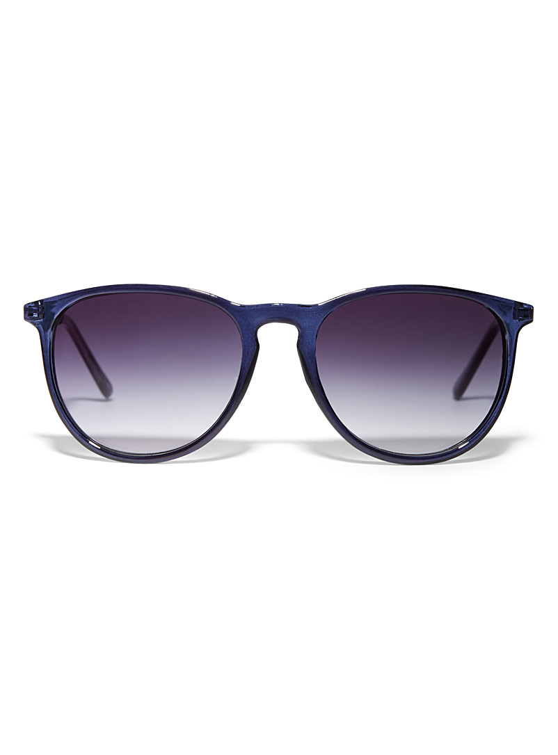 Erica faux-leather accent sunglasses - Less than $50
