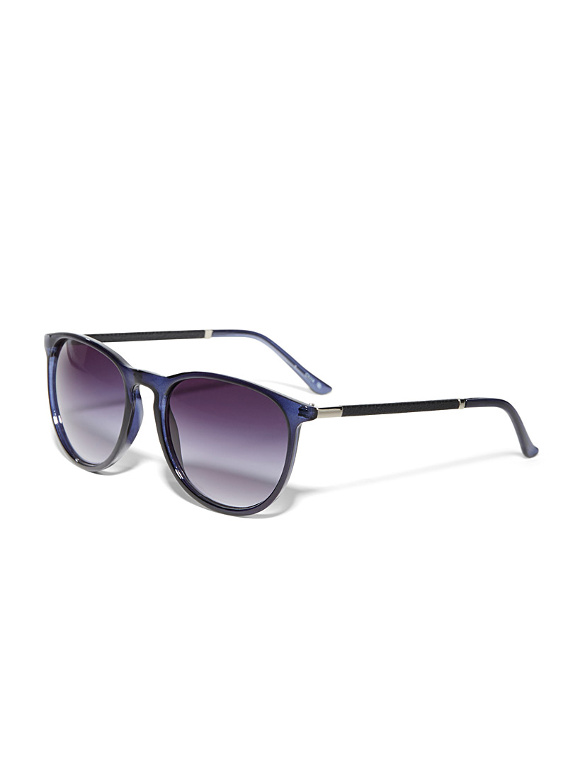 Simons Light Brown Erica faux-leather accent sunglasses for women
