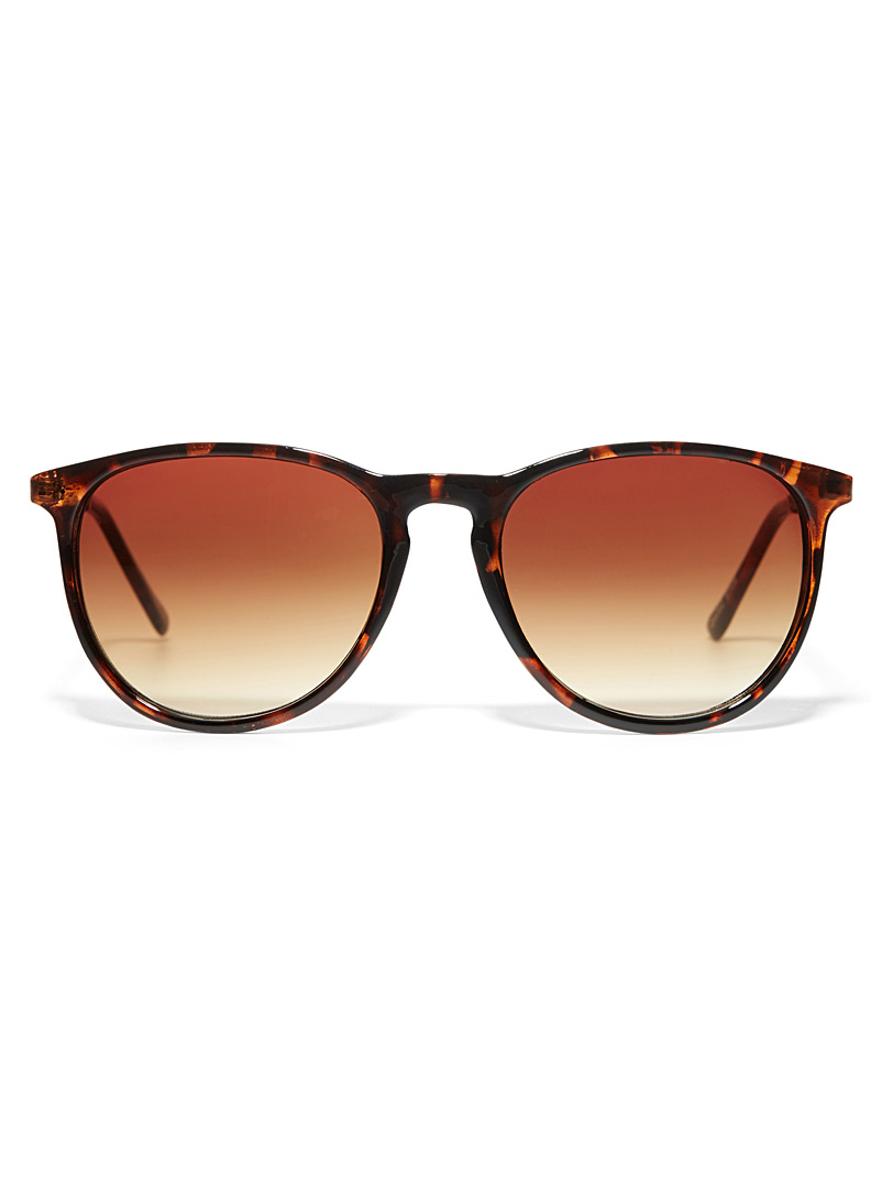 Erica faux-leather accent sunglasses - Less than $50 - Light Brown