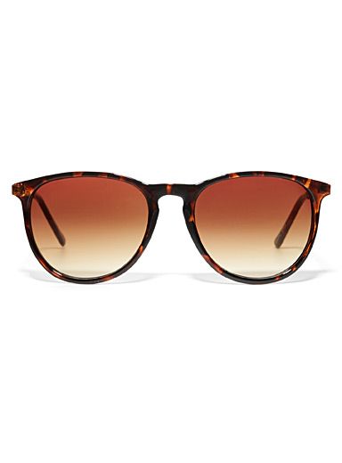 Erica faux-leather accent sunglasses