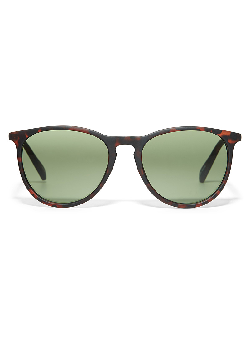 Simons Light Brown Ronda round sunglasses for women