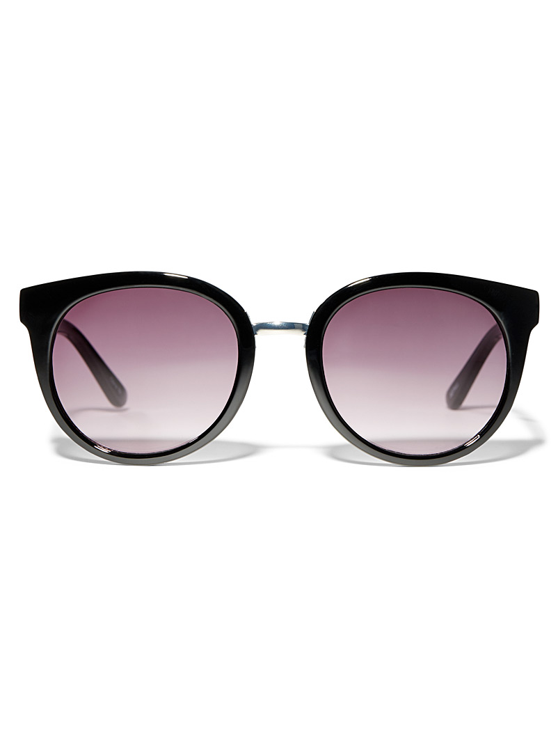 Simons Black Felicia round sunglasses for women