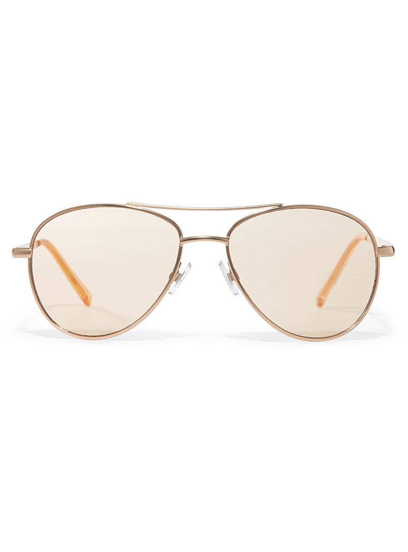 Rumour aviator sunglasses - Less than $50 - Patterned Yellow