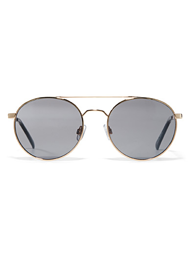 Simons Assorted Peony aviator sunglasses for women