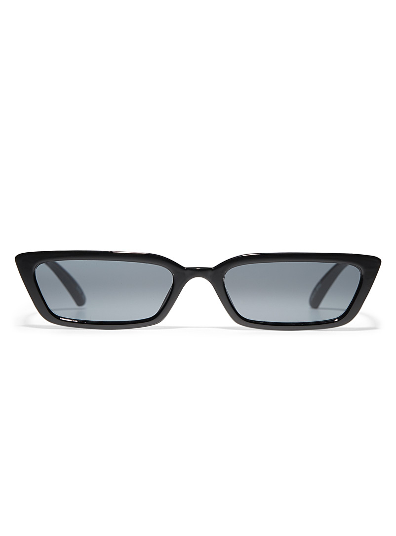 Simons Black Bitzy rectangular sunglasses for women