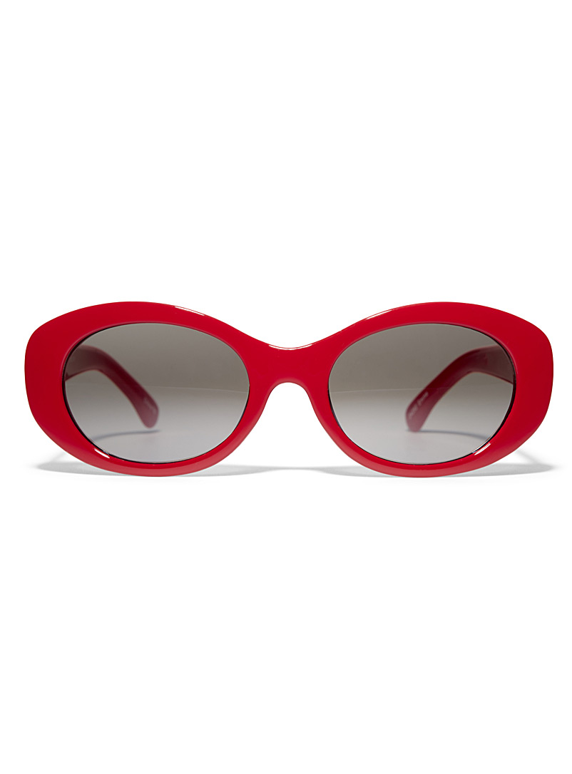 Emma oval sunglasses - Less than $50 - Red