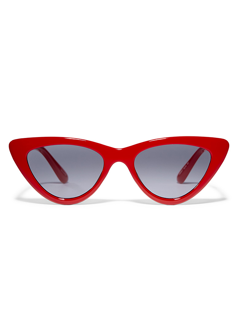 Simons Red Kylie cat-eye sunglasses for women