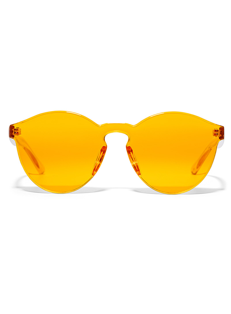 Simons Orange Leona round sunglasses for women