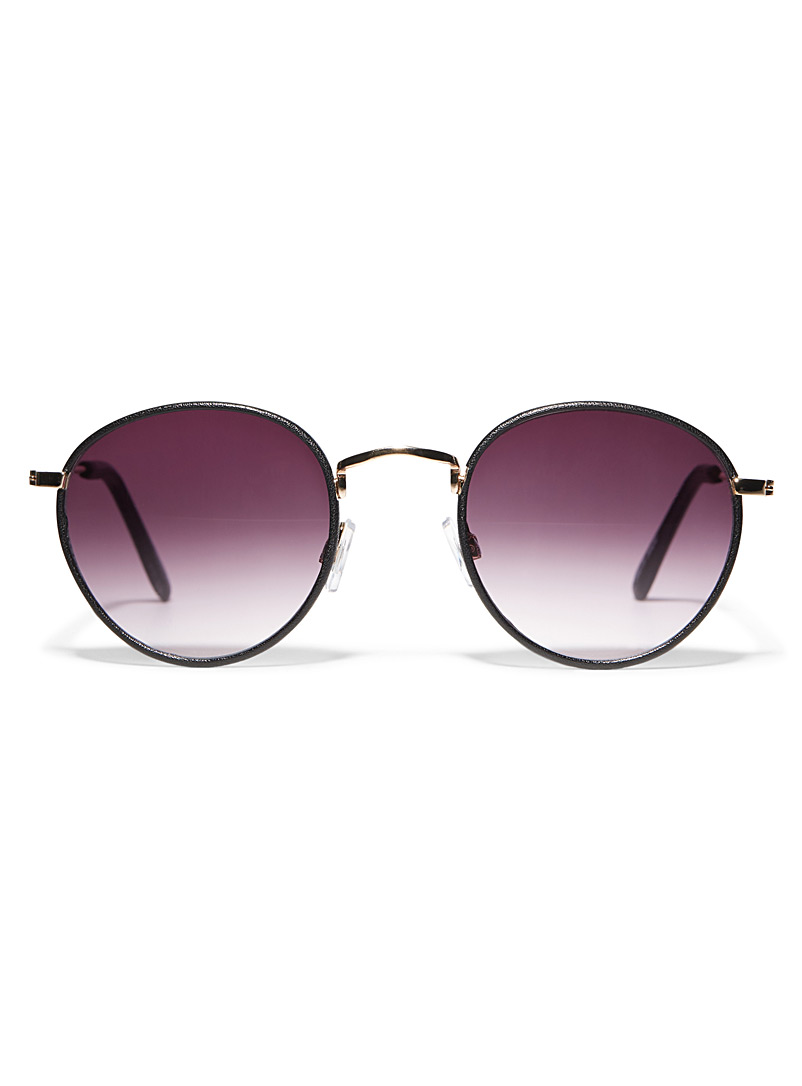 Simons Black Jasper round sunglasses for women