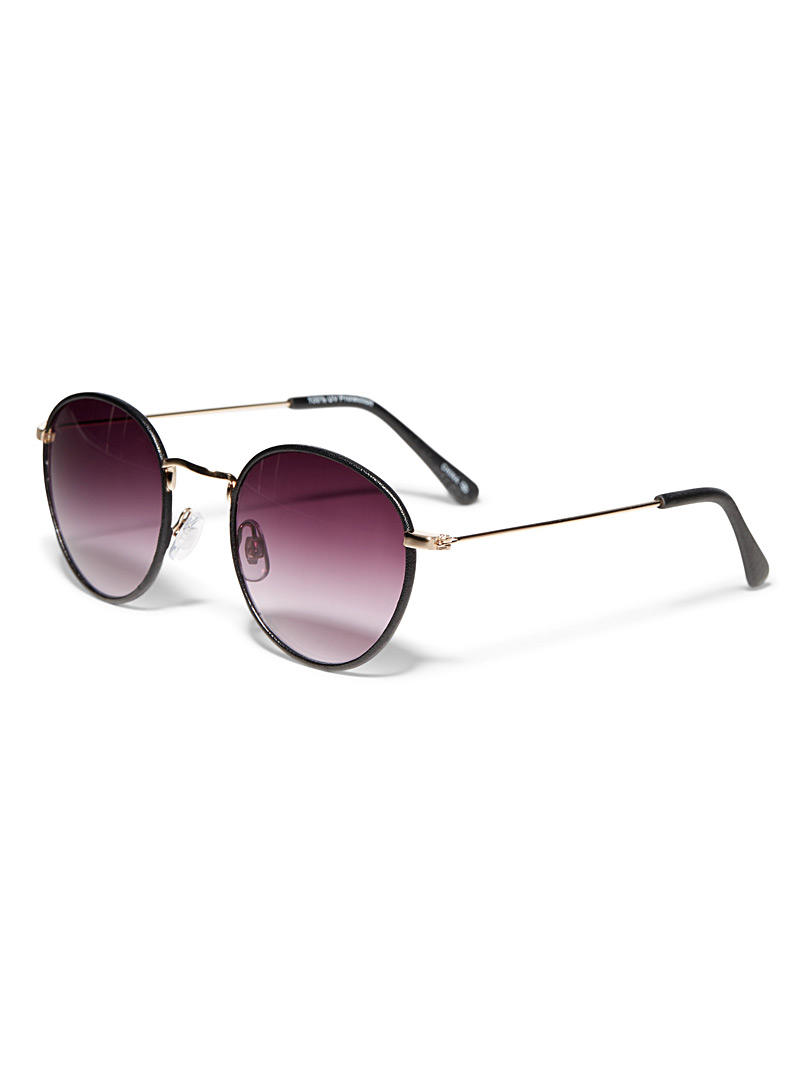 Simons Brown Jasper round sunglasses for women