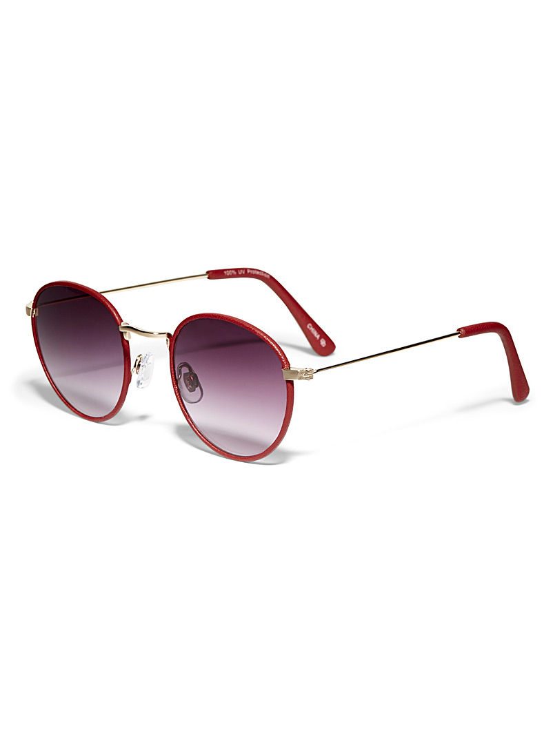 Simons Red Jasper round sunglasses for women