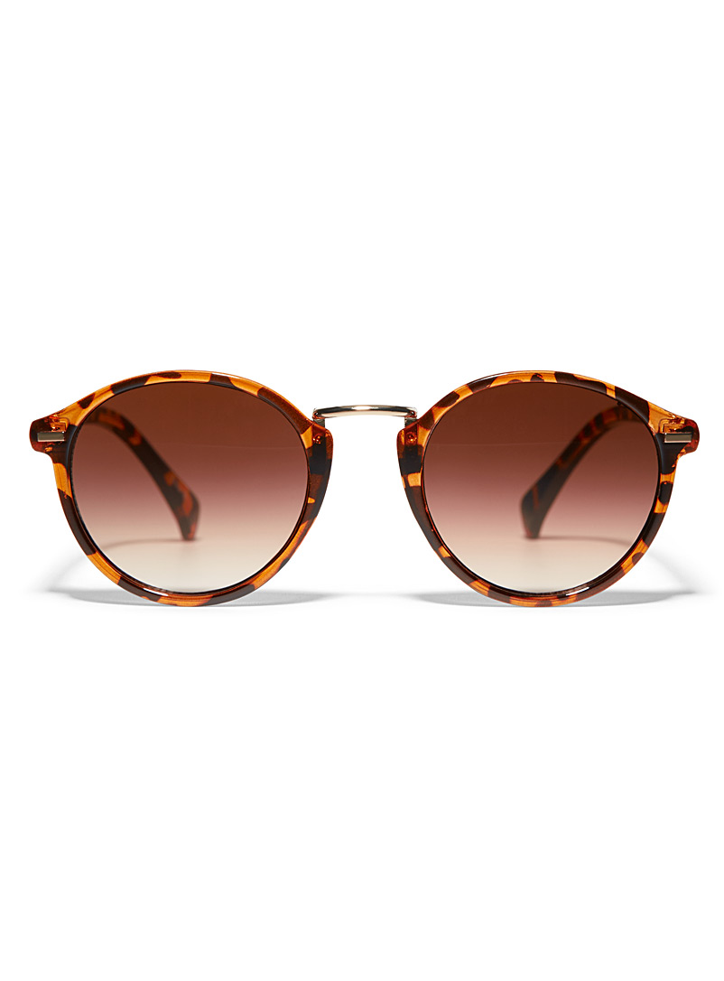Simons Light Brown Heather round sunglasses for women