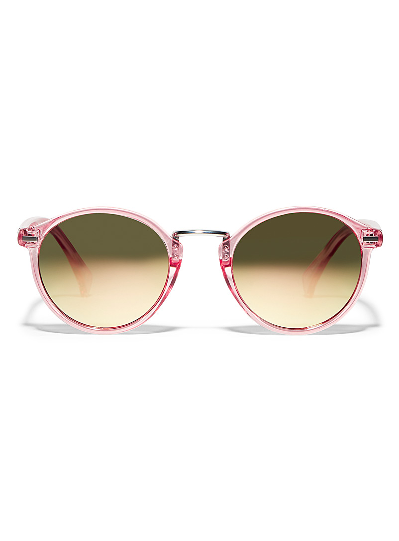 Simons Pink Heather round sunglasses for women