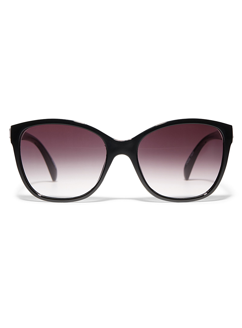 Simons Black Faith square sunglasses for women