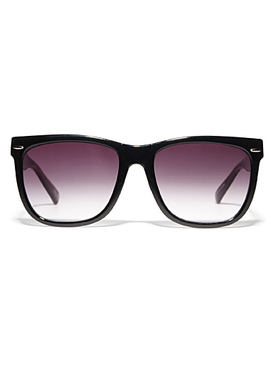 Violet rectangular sunglasses