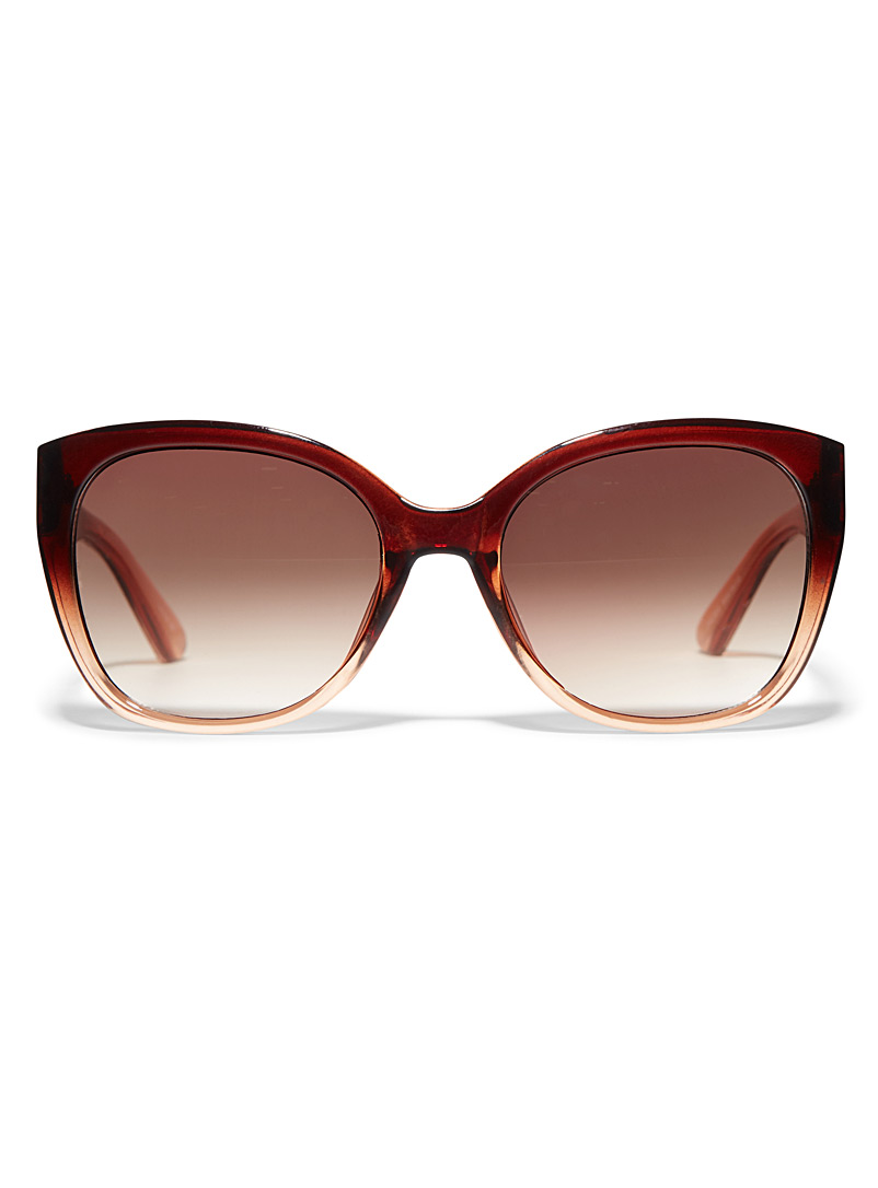 Simons Brown Marlene square sunglasses for women