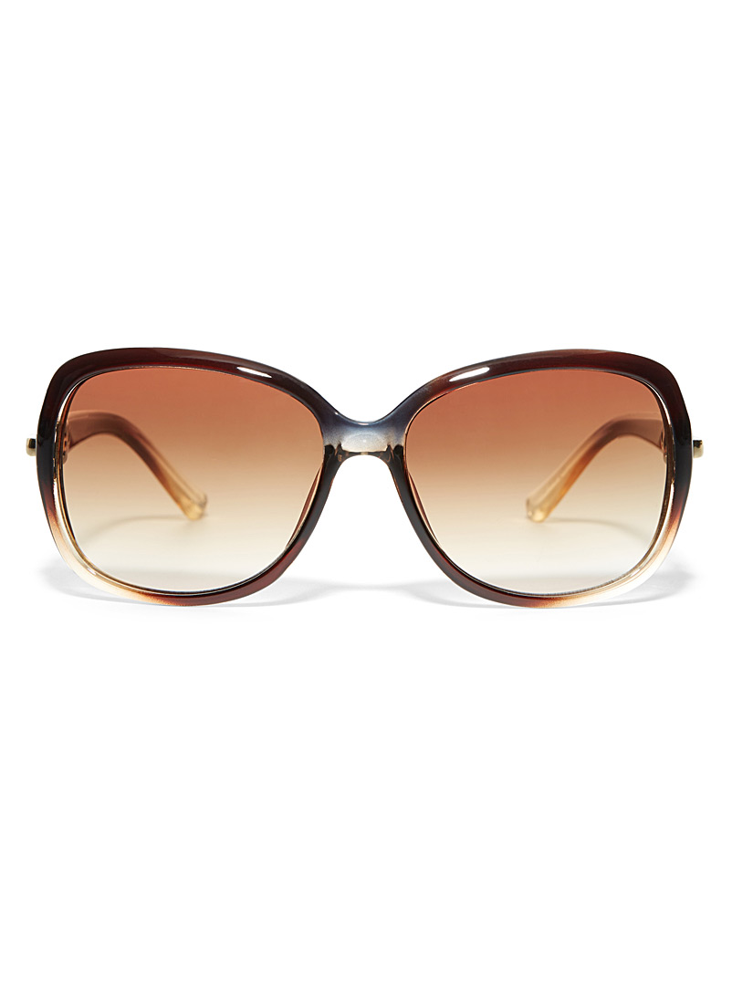 Simons Brown Margot square sunglasses for women