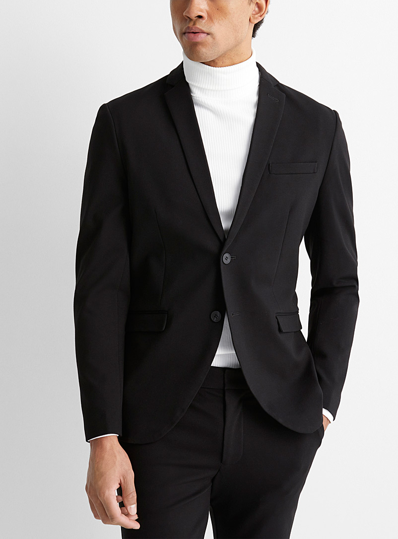 Selected Black Solid knit jacket  Semi-slim fit for men