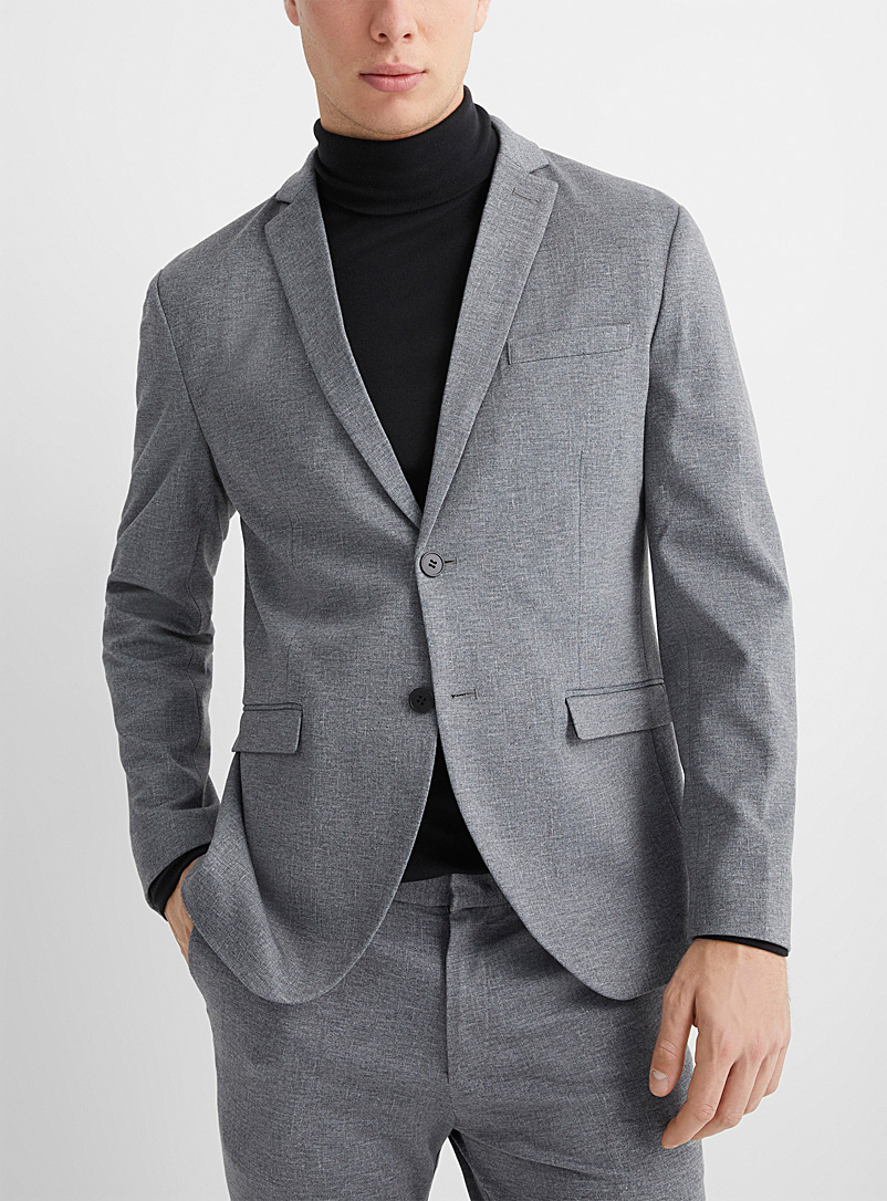 Selected Grey Solid knit jacket  Semi-slim fit for men