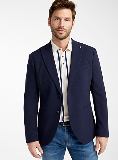 Selected Marine Blue Navy twill jacket  Semi-slim fit for men