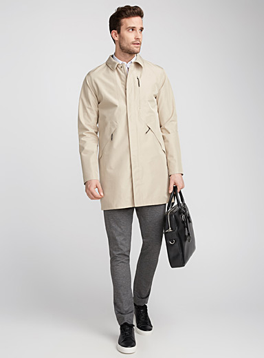 Minimalist technical trench coat